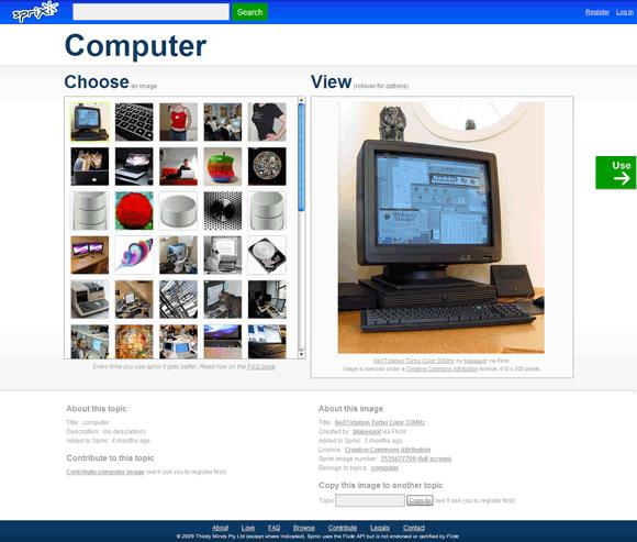 Sprixi Main Sprixi   موقع رائع للبحث عن الصور