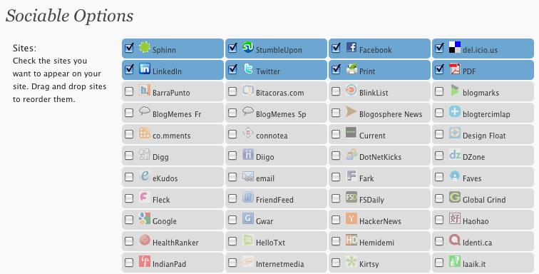wp sociable إضافات ووردبريس رائعة ومهمة