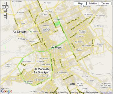 خريطة تفاعلية للطرق السالكة والمزدحمة في الرياض عالم التقنية