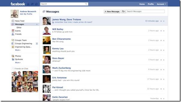 نظام جديد للرسائل على الفيس بوك facebook