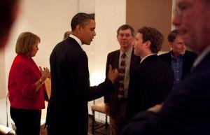 أوباما مع مارك زوكربيرج