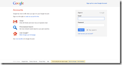Google Accounts New Login