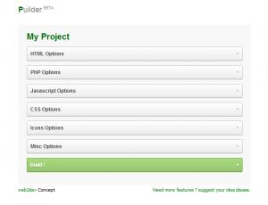 Screenshot 2011 08 29 at 03.08.25 300x230 Puildr: أنشئ مجلد مشروعك البرمجي بسهولة