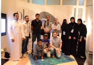 """فريق مشروع مستقبلي """" أضغط على صورة لحجم أكبر"""" من اليمين وائل، عبد الله ، فايض من اليمين ريم، هتون، اسيل ، صالح، علي ، سهيل، محمد، حسام"""
