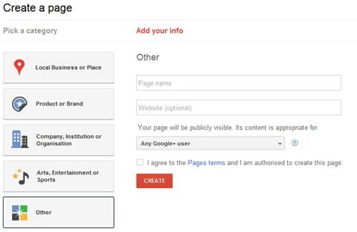 google page thumb تحديث: شرح إنشاء صفحة موقعك أو شركتك في قوقل بلس
