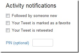 twitter-Activity notifications