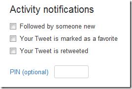 twitter-Activity notifications