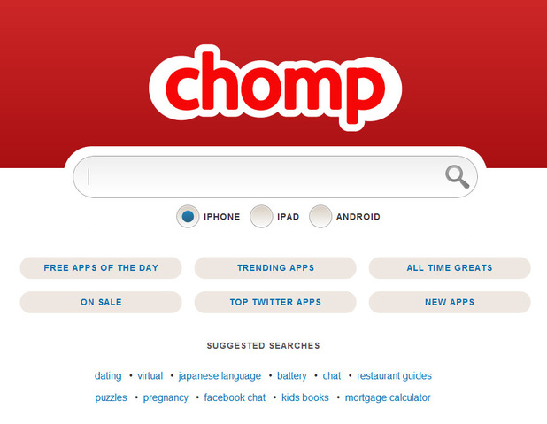 tech chomp screenshot أبل تستحوذ على شركة Chomp