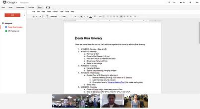 1 إمكانية مشاركة مستندات جوجل أثناء محادثة الفيديو على جوجل بلس