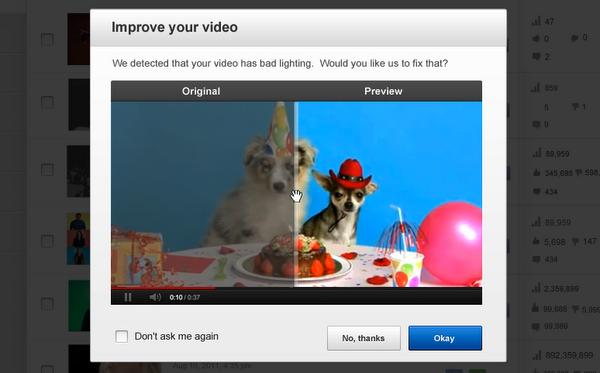 الأن يمكن تحسين الفيديو في اليوتيوب بضغطة زر