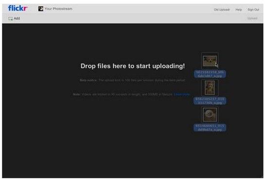 1 تحديث وظيفة رفع الصور في فليكر بأستخدام تقنية HTML5