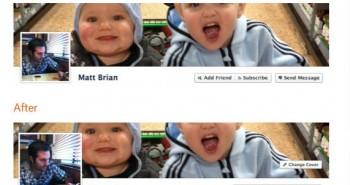 موقع الفيس بوك يزيد من حجم صورة بروفايل التايم لاين