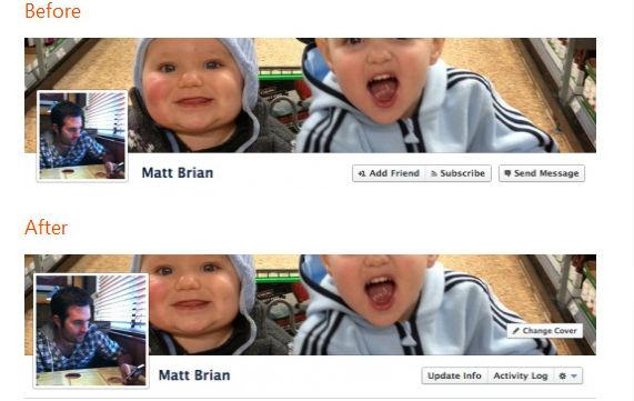 screenshot موقع الفيس بوك يزيد من حجم صورة بروفايل التايم لاين