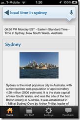 Local time in Sydney