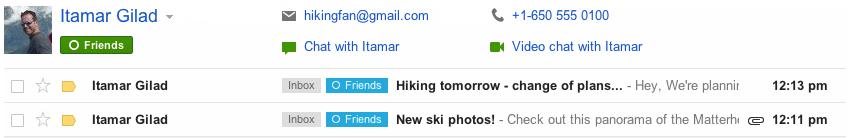 contactdetails بريد الجيميل يجلب العديد من التحسينات الجديدة والمتكامله مع جوجل بلس