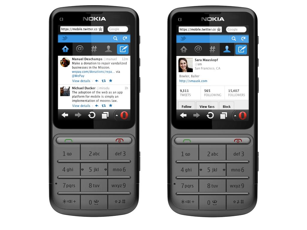 mobile web nokia c3 موقع تويتر متوفر للهواتف العادية