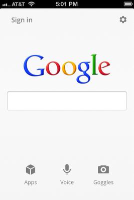 search app home تحديث تطبيق جوجل للبحث في الآيفون