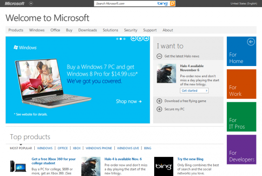 2012 06 29 14h39 25 520x349 مايكروسوفت تكشف عن تصميم جديد لموقعها
