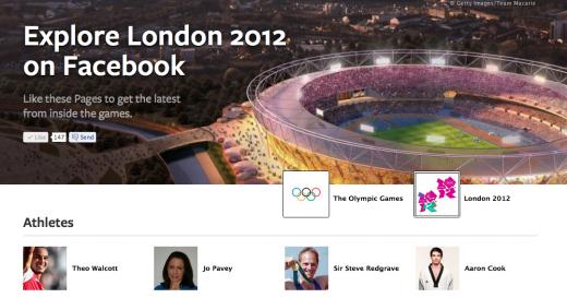 صفحة خاصة بالالعاب الاولمبية يطلقها