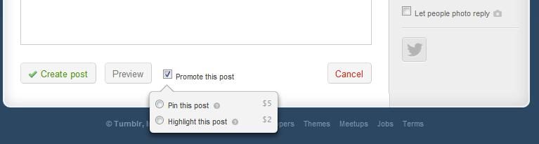 tumblr pin post narrow تمبلر يطلق ميزة جديده لتسليط الضوء على التدوينات