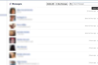 Facebook Delete All Messages كيف تحذف جميع رسائل الفيس بوك مرة واحدة !