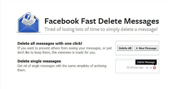 Facebook Fast Delete Messages كيف تحذف جميع رسائل الفيس بوك مرة واحدة !