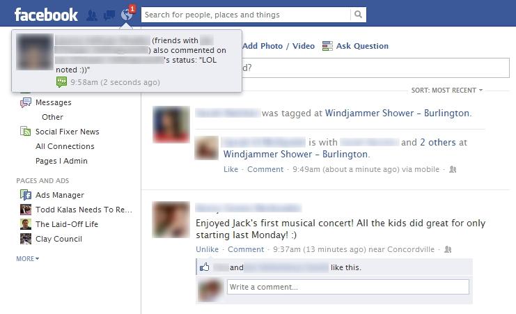 PopupNotification تحديثات جديدة قادمة لإشعارات الفيس بوك