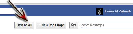 Sans titre كيف تحذف جميع رسائل الفيس بوك مرة واحدة !