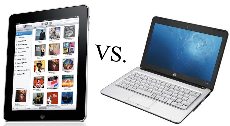 ipad vs netbook12 الحواسب اللوحية ستسيطر على السوق عام 2016