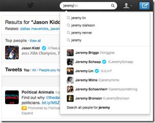 jeremy lin typeahead thumb تحديثات جديدة لبحث تويتر