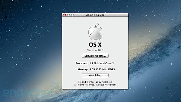 صدر تحديث نظام 10.8 Mountain Lion