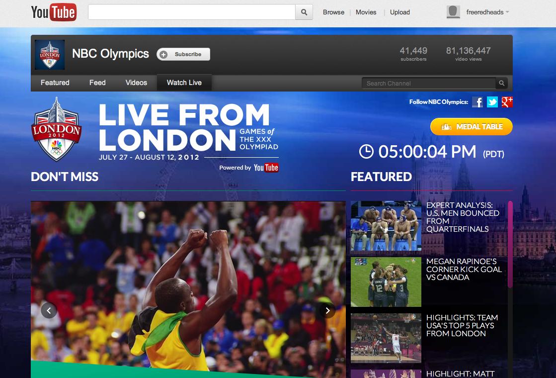120817183646092 بعض الإحصائيات الخاصة باليوتيوب والمتعلقة بأولمبياد لندن