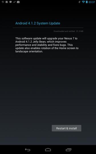 قوقل تطلق تحديث الجيلي 4.1.2