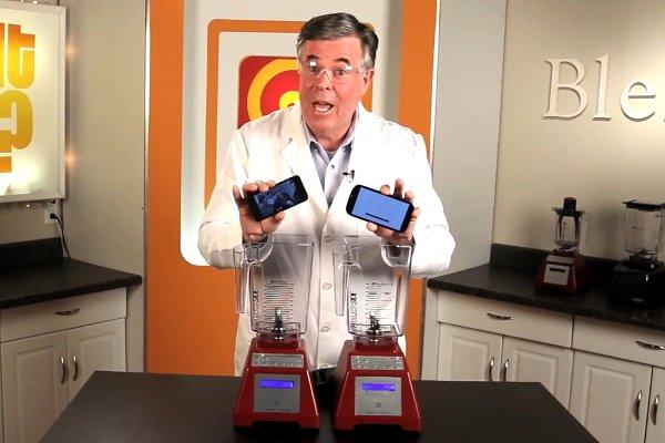 الايفون وجالاكسي إختبار الطحن، الفائز؟