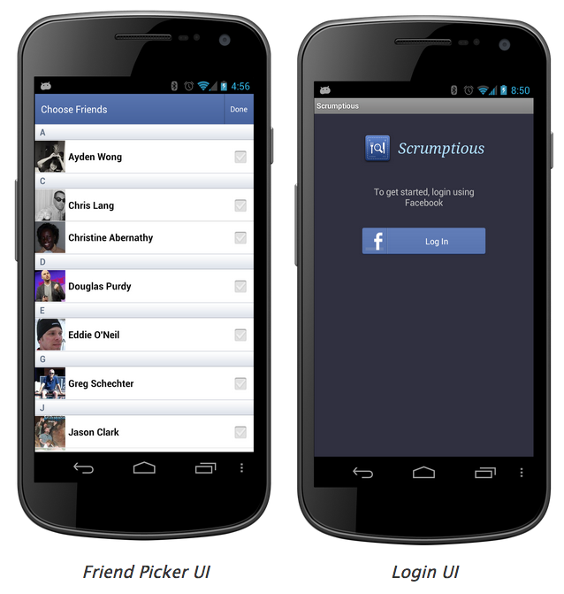facebook-android-sdk-pre-built-elements