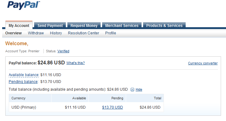 how to receive pending money on paypal