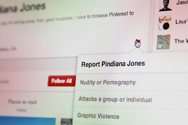 شبكة Pinterest تسمح بالحظر والإبلاغ