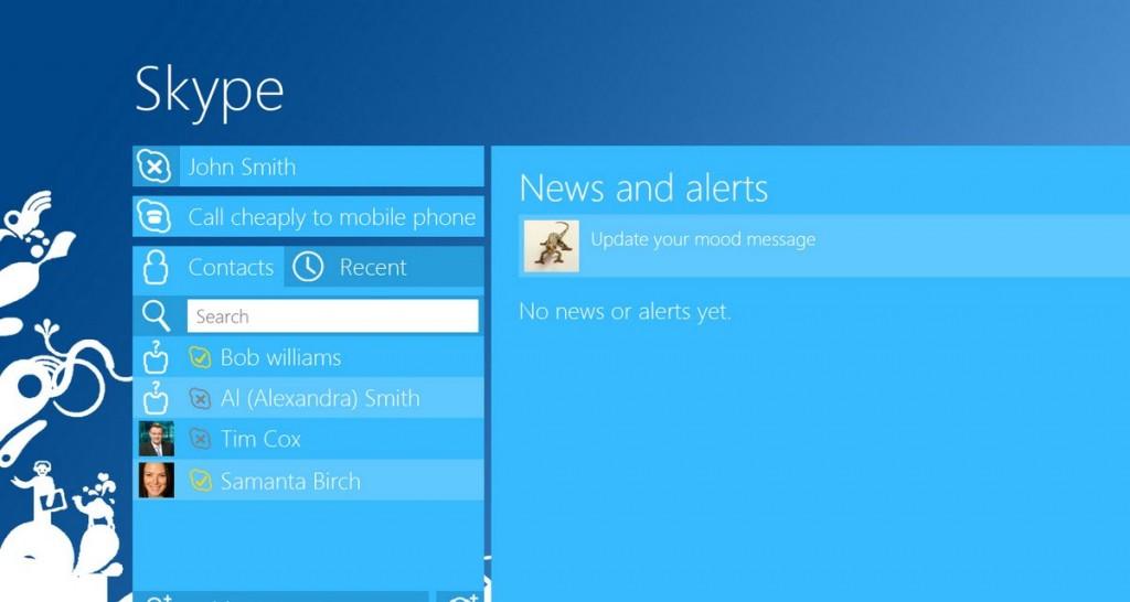 skype windows 8 1024x546 مايكروسوفت تكشف عن سكايب لويندوز 8