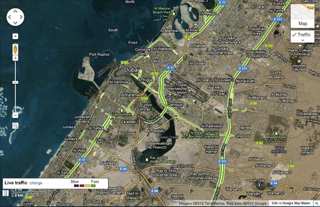 حركة المرور في دبي