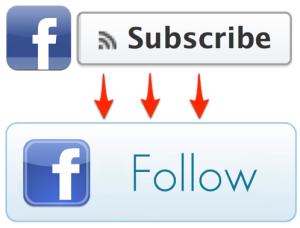 """يغير الإشتراك المتابعة """"follow"""""""