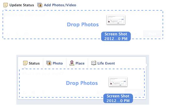 السحب و الإسقاط في الفيس بوك