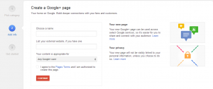 انشاء صفحة جوجل بلس