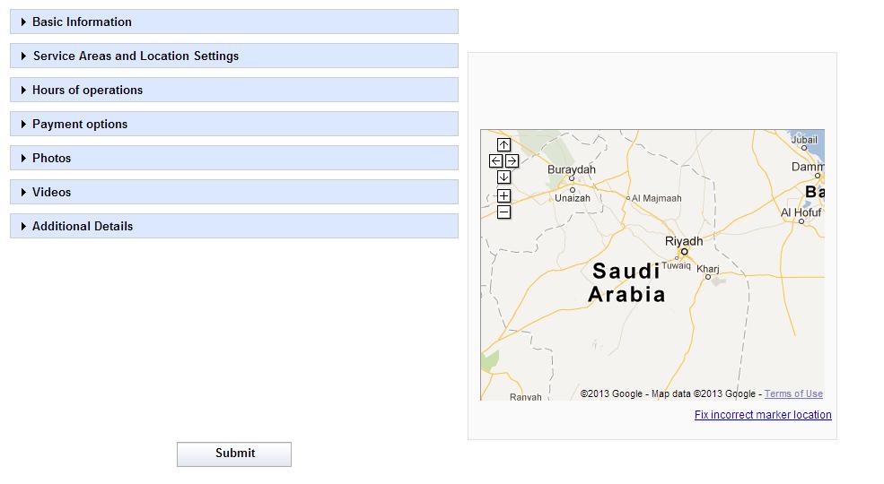 تسجيل خرائط جوجل