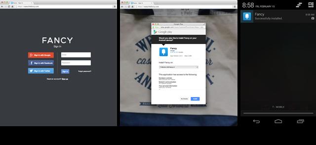 إمكانية تحميل تطبيق الموقع بعد تسجيل الدخول
