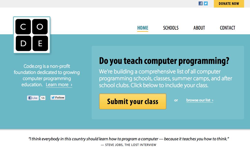 code.org أمريكا تعلم أطفالها البرمجة