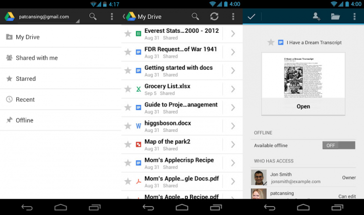 google-releases-faster-drive-app-with-streaming-video-support-on-android-3-0-pinch-to-zoom-for-presentations