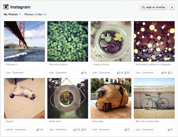facebook timeline instagram
