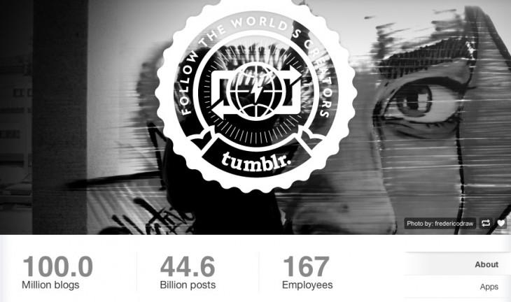 tumblr 100 million blog