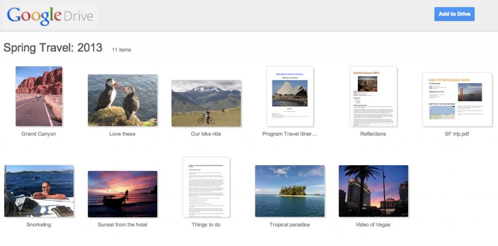 Folder Landing Page screenshot