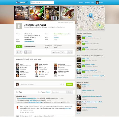 foursquare layout